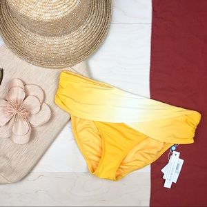 NWT Bleu Rod Beattie Yellow Ombré Bikini Bottom